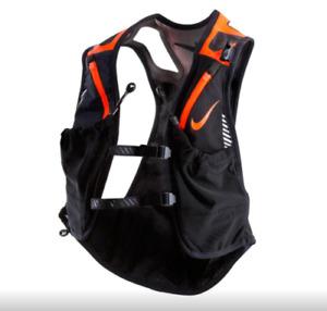 Nike Kiger Trail Running/Hiking Vest Reflective Black Orange Unisex Size S/L NWT