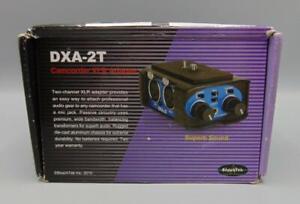 DXA-2T Camcorder XLR Adapter BeachTek (XLR to 3.5mm 2-channel converter)