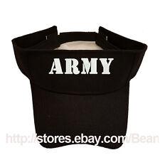 ARMY TEXT BLACK SUN VISOR MILITARY LAW ENFORCEMENT