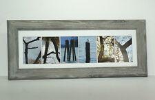 Creative Letter Art Framed FAMILY made with Original Alphabet Nature Photographs