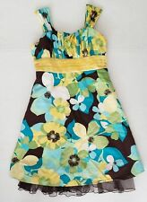 My Michelle Girls Size 12 Dress Floral Fancy Lined Cotton VGUC