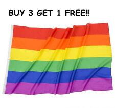 "Rainbow Flag Big 3 x 5 FT Gay Pride Lesbian 36"" x 60"" LGBT Bisexual Transgender"