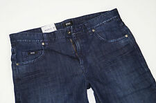 Neu - Hugo Boss BLACK Label - Columbia  W33 L32  Dark Denim Stretch Jeans 33/32