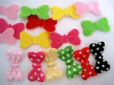 60 Satin Polka Dot Little Bow Tie Applique/felt/fabric/doll/motif/trim/mini H281