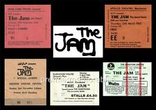 THE JAM PAUL WELLER REPLICA GIG TICKETS 1980-1982 EXCLUSIVE A4 MONTAGE PRINT 2