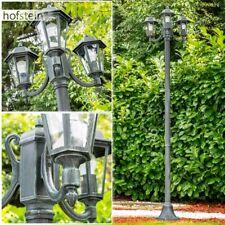 Wege Lampen Kandelaber schwarz grün Aussen Steh Leuchten Garten Klarglas Laterne