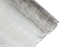 Stiffened Sinamay Millinery Fabric - Metallic Silver - 1 Meter x 90cm