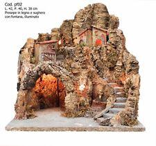 Presepe presepio artigianale napoletano San Gregorio Armeno pf02 42X40X38H CM