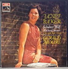 HMV ASD 2431 UK ED 1 LP JANET BAKER - LIEDER RECITAL SCHUBERT, WOLF... MOORE
