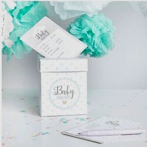 Baby Shower Prediction Box & Cards for guests to fill out MINT UNISEX