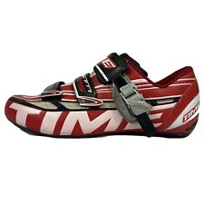 TIME Ulteam RS Carbon Road Biking Shoes Red 42 EU 9 US