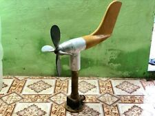 Old Heritage Vintage Ship Anemometer for Maritime brass, aluminium and fiber