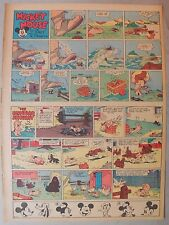 Mickey Mouse Sunday Page by Walt Disney from 10/30/1938 Tabloid Page Size