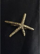 *Vintage Style Gold Starfish Hair Clip*