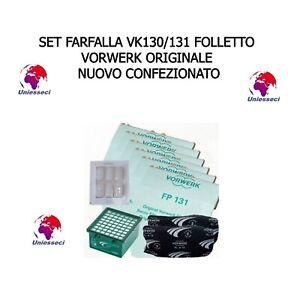SET FARFALLA VK130/131 FOLLETTO VORWERK ORIGINALE NUOVO CONFEZIONATO UNIESSECI
