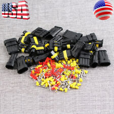 15Kits 2 3+4 Pin Way Car Super Seal Waterproof Electrical Wire Connector Plug