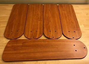 Replacement Harbor Breeze Ceiling Fan Blades - Lot of 5 - Brown - Used