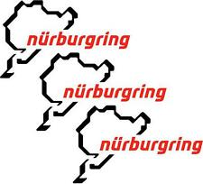 3 x Nurburgring Auto Bici Sticker Vinyl Decal 13 cm x8cm