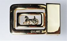 Celine Buckle Harness Racing Equestrian Vtg Italy Horse Carriage