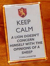 Tywin Lannister sigil Game of Thrones keep calm lion quote fridge magnet