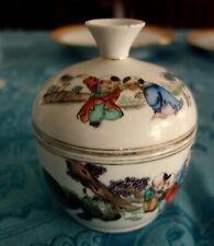 Antike Chinesische China Dose Handbemalt Qing-Dynastie ?