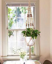 Mkono Macrame Plant Hanger Indoor Outdoor Hanging Planter Basket Jute Rope
