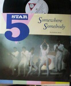"""5 STAR ~ Somewhere Somebody ~ 12"""" Single PS"""
