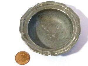 Antique Pewter Bowl in a Floral Shape Unusual Salt ?