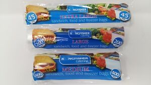 Medium, Large, Extra Large Food Sandwich Freezer Bags Perforated On Roll Value