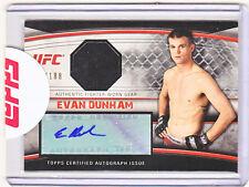 2010 Topps UFC MMA Evan Dunham Dual Fighter Worn-Autograph Auto Card
