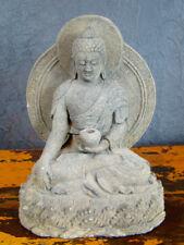 Medizin BUDDHA Sandstein China Skulptur Statue Asiatika - hh0bud10