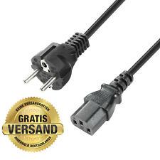 Netzkabel, Schutzkontaktstecker / 3 m / C13 Kaltgeräte Kabel / Schuko IEC 320
