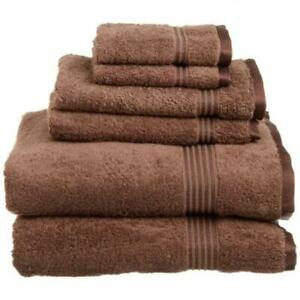 Superior Egyptian Cotton 6-Piece Towel Set Mocha