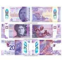 Scotland 20 Pounds £20 2020 Polymer Set of 3 Banknotes BOS CB RBS 3 PCS UNC