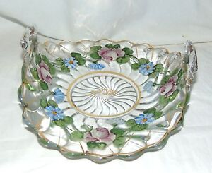 "Fostoria COLONY CRYSTAL w/CHARLETON DECORATION *10"" MUFFIN TRAY*"