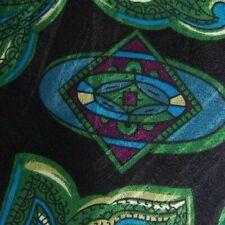 Black Green Purple Paisley Silk Tie