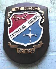 Destroyer USS Bridget Painted Steel Bulkhead Plaque