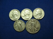 ESTATE FIND OLD MIXED 90% SILVER U.S. QUARTER & HALF COIN COLLECTION LOT #30F