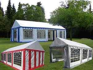 Partyzelt 3x6-5x8m Festzelt Gartenzelt Pavillon Bierzelt wasserdicht PVC NEU