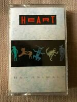 HEART - BAD ANIMALS  CASSETTE EX+( fold out insert)/ EX(tape)