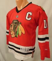 Jonathan Toews #19 Chicago Blackhawks NHL Jersey Youth SM Reebok Captain Red