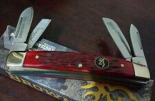 BROWNING BONE HANDLE CONGRESS HUNTING POCKET KNIFE W/ BUCK MARK SHIELD !!!