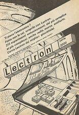 X4947 Lectron serie 2000 - Pubblicità 1973 - Advertising