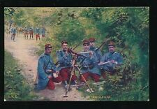 Military France LA MITRAILLEUSE Machine Gun group cWW1 PPC