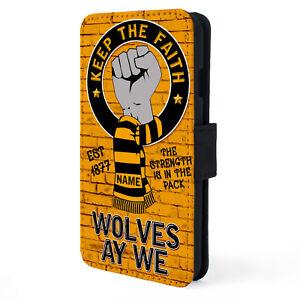 Personalised Wolverhampton iPhone Case Football Flip Phone Cover KeepFaith KTF66