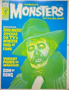 Famous Monsters of Filmland #109 Master BASIL GOGOS Cover Proof Aug 1974 #WA