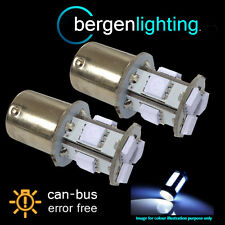 207 1156 BA15s CANBUS ERROR FREE WHITE 9 LED NUMBER PLATE LIGHT BULBS NP201001