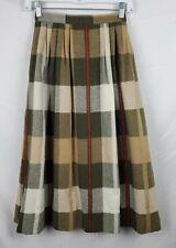 Koret Career Women's Plaid Wool Blend Long Skirt sz 6