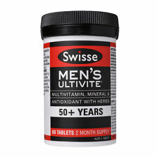 BEST PRICE! Swisse Men's 50+ Years Ultivite 60 Tablets ONE-A-DAY