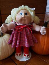 Vintage 1985 Cabbage Patch Kid - KT Factory - Lemon Double Pony  - Clothes